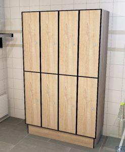 0877 2 TL 400 lockers 8 door solid grade laminate