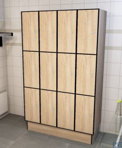 0877 3 TL 300 lockers 12 doors Solid Grade Laminate