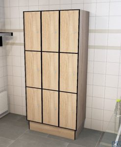 0877 3 TL 300 lockers 9 doors Solid Grade Laminate
