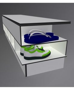 4 Step Over Benches with Shoe Rack 4 Solid Grade Laminate