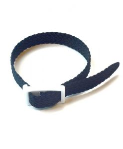 Black Parachute silk wristband for locker keys