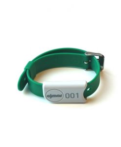 Green Ojmar wristband with stainless steel clasp