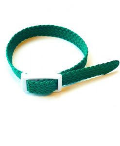 Green Parachute silk wristband for locker keys