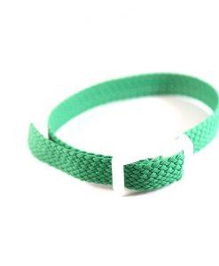 Green Perlon wristband for locker keys
