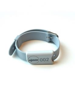 Grey Ojmar wristband with stainless steel clasp