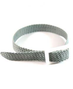 Grey Perlon wristband for locker keys