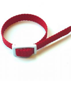 Red Parachute silk wristband for locker keys