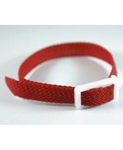 Red Perlon wristband for locker keys