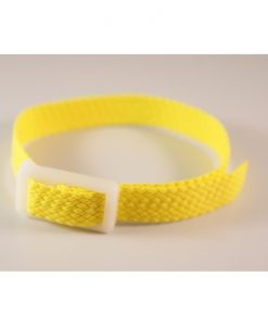 Yellow Parachute silk wristband for locker keys