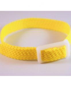 Yellow Perlon wristband for locker keys